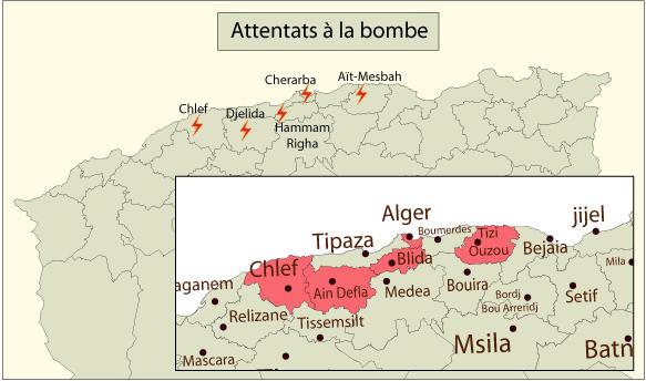 Carte Algerie Tipaza.Algerie Chronique De La Violence
